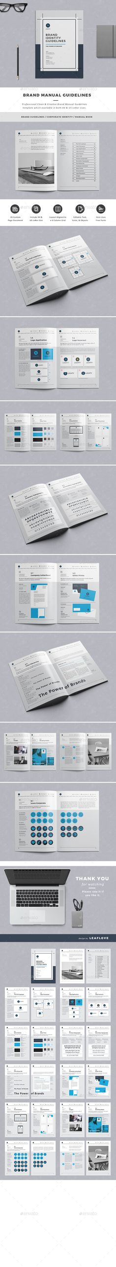 Brand Manual Template GraphicRiver Brand Guidelines - it manual template