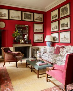 Bold walls in this Paris den.