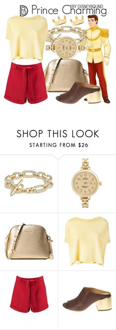 """Prince Charming"" by leslieakay ❤ liked on Polyvore featuring David Yurman, Shinola, Michael Kors, KristenseN du Nord, Boohoo, MM6 Maison Margiela, Dainty Edge, disney, disneybound and disneycharacter"