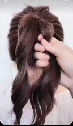 Short Hair Ponytail, Hairdo For Long Hair, Hair Due, Bun Hairstyles For Long Hair, Make Hair, Hair Up Styles, Hair Affair, Hair Videos, Hair Hacks