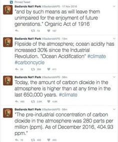 National Parks Service 'goes rogue' in response to Trump Twitter ban | Technology | The Guardian