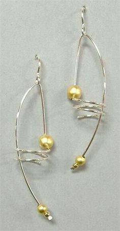 Spiral Wire and Pearl Earrings Spiral silver and gold drop earrings Available in silver or gold wire You... https://nemb.ly/p/NkfBfxaBZ Happily published via Nembol
