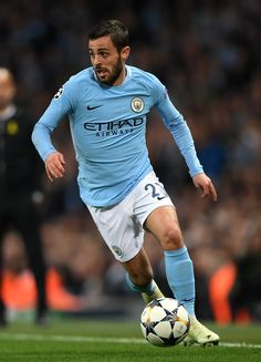 Bernardo Silva of Manchester City in action during the UEFA Champions League Quarter Final Second Leg match between Manchester City and Liverpool at Etihad Stadium on April 2018 in Manchester, England. Liverpool Uefa Champions League, Manchester City, Manchester England, Zen, We Are The Champions, Blue City, English Premier League, Soccer World, Pumas Shoes