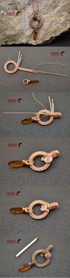 Wire Wrap Pendant - magazin-rukodel.ru/ More