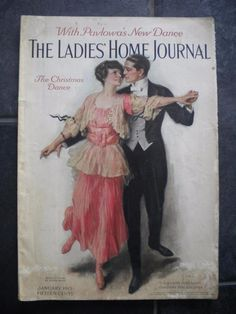 Antique Vtg Ladies Home Journal Back Magazine Issue January 1915 Christmas Dance #LadiesHomeJournal