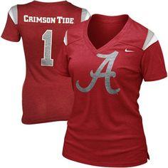 Nike Alabama Crimson Tide Ladies Replica Football Premium T-Shirt - Crimson -