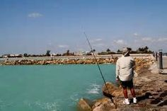 Fishing on the Jetty at the Fort Pierce Inlet