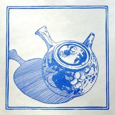 lino print by Red Boy Prints 2015 © Teapot, Printing, Coffee, Boys, Red, Animals, Kaffee, Baby Boys, Tea Pot