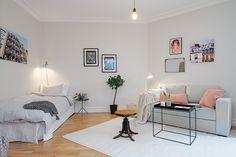 Small apartment/ Petit studio avec coin chambre et coin salon.