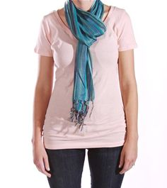 Scarf that is made by women in Delhi, India... proceeds go to end slavery. Cute scarf, good cause, it's a win-win!