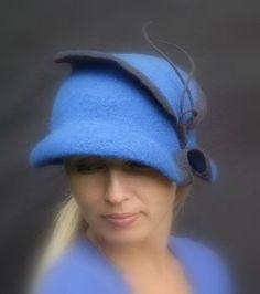 "Клош ""Капля лазури"" из коллекции ""Ароматы"" - дамская шляпка,женская шляпка"