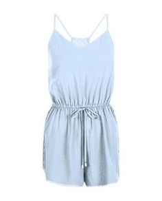 Shop Pale Blue Strappy Lace Back Tie Waist Playsuit. Discover the latest trends at New Look. Festival Outfits, Festival Fashion, Playsuit Romper, Playsuits, Jumpsuits, Chic Dress, Lace Back, Teen Fashion, New Look