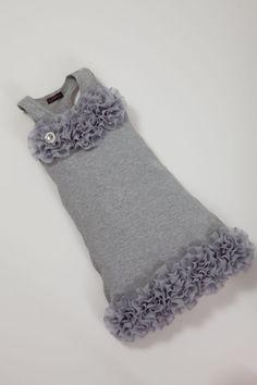 Girls Dress Grey Toddler Sleeveless Summer Dress by jacqueline225