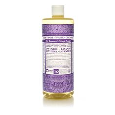 Dr. Bronner's fair trade Magic Soaps in Lavender. I always have a bottle in my shower. Love love love.