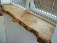 Builder track world… DIY advice please. natural wood window sill … – Cocktails and Pretty Drinks Wood Window Sill, Kitchen Window Sill, Window Ledge, Bay Window, Interior Window Sill, Window Sill Decor, Window Plants, Window Shelves, Window Hanging
