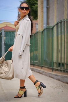 over-the-shoulder trench coat/jacket