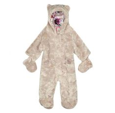 6666549a3 BNWTS STUNNING Ted Baker Baby Girls Faux Fur Snowsuit With Bow Detail 0-3  Months for sale online
