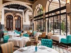 Located near the Giralda Tower and cathedral, this Andalusian palace is designed with square towers, Renaissance-style windows, and Triana ceramics. The old-world charm includes gardens surrounding a typical Sevillian inner courtyard with a fountain.