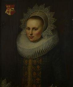 Jan Anthonisz van Ravesteyn, Portrait of Carolina van Beveren (1569-1625), wife of Adriaan Jacobsz van Blyenburg, 1612  Dordrechts Museum