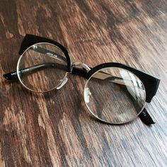 Faux Round Glasses Cute faux glasses with round frames and thick black accents to add a little fun to your outfit. Black plastic ear pieces. Show minimal wear, no major scratches or flaws. Ask any questions! Cato Accessories Glasses