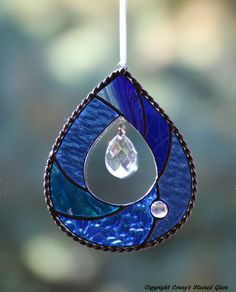 Teardrop Stained Glass Suncatcher