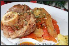 Jarrets de veau aux carottes et panais, gnocchis au beurre d'herbes fraîches   La neige et le froid nous incitent à manger des plats mi...