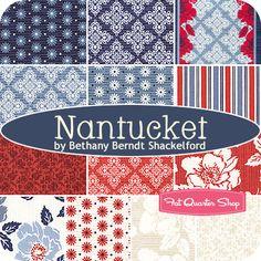 Nantucket Fat Quarter Bundle Bethany Berndt Shackelford for Quilting Treasures