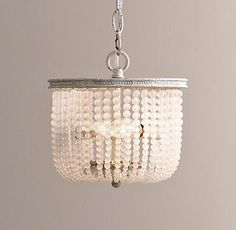 Dauphine Frosted Glass Small Pendant - restoration hardware