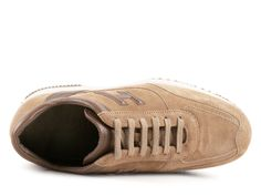Sneakers Hogan Interactive uomo in camoscio beige 3