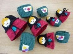 Amigurumi Russian Doll Pattern : Crochet doll pattern for amigurumi matryoshka dolls russian
