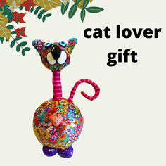 This a durable Handmade cat made with polymer clay on metal base that I welded All the flowers on this lovely cat I sculpted by my hand, one by one using the Millefiori technique (1,000 flowers, based on 3,500-year-old Mesopotamian mosaic glass-making processes) On this lovely cat you will find 40 kinds of different flowers. This cat could be a perfect gift for cat lovers, this can be a perfect decorative in your farmhouse, your office or your lovely home. Handmade Market, Handmade Items, Handmade Gifts, Cat Colors, Different Flowers, Etsy Crafts, Cat Lover Gifts, Sell On Etsy, Kids Decor