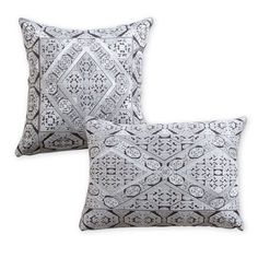 This beautiful embroidered cushion will sit pretty on your bed or sofa.
