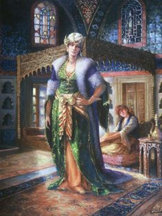 Sultana ottoman century by kamil aslanger Art Painting Images, Painting Gallery, Woman Painting, Figure Painting, Mediterranean Art, Anime Cosplay Girls, Art Optical, Creta, Arabic Art