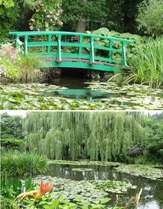Claude Monet Gardens, Giverny, Normandy France. Immerse yourself in the landscape that inspired some of French Impressionist painter Claude Monet's most beautiful works at the artist's former estate.  Giverny is located 50 miles outside Paris, on the banks of the River Seine. http://giverny.org/gardens/fcm/visitgb.htm