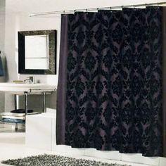 Merveilleux Regal Shower Curtain Brown Black
