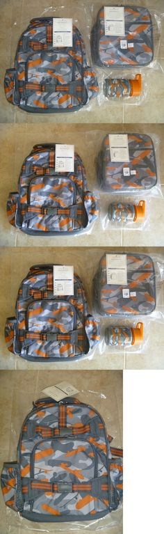 Backpacks and Bags 57882: Boys Pottery Barn Kids Orange Skateboard Camo Sm Backpack Lunch Bag Water Bottle -> BUY IT NOW ONLY: $69.99 on eBay!