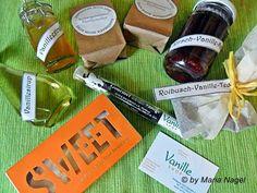 Kirsch-Vanille-Marmelade  (für 2 Gläser) 500g Kirschen (gefroren oder frisch) 2EL Vanilleextrakt Gelierzucker 2:1  Die (aufgetauten) K...