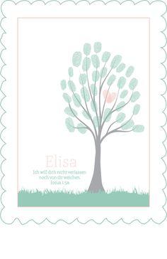 baby tree #2 - Geschenk zur Taufe!