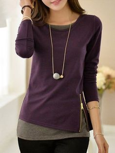 Women Hoodies Sweatshirts 2018 Casual Long Sleeve Moletom Feminina Felpe Donna Kpop Pullovers Zippers Tops Plus Size 5 Purple XL Stil Inspiration, Cheap Womens Tops, Shirt Blouses, Long Sleeve Tops, Ideias Fashion, Tunic Tops, Hoodie, Sweatshirt, Clothes For Women