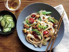 Chinese Noodle Salad with Sesame Dressing | Grocery store shelves are packed with exciting new plant proteins and vegetarian convenience foods that make substituting meat easy and delicious. As more Americans turn toward plant-based eating, incorporating meat-free dishes into your weekly menu plan is an easy way to cut meat consumption, increase your intake of vital nutrients and phytochemicals you can only find in plants, and reduce your carbon footprint.