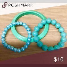 Bundle of blue and green bracelet bangles Bundle of bracelets Charming Charlie Jewelry Bracelets