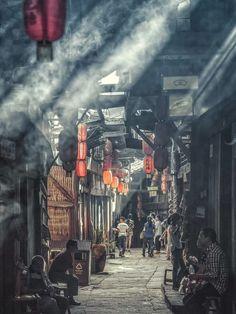 Japon Tokyo, Aesthetic Japan, Japanese Architecture, Fantasy Landscape, Dojo, Asia Travel, Aesthetic Pictures, Street Photography, Photo Art