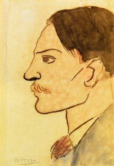 Portrait of the Artist by Pablo Picasso oil painting art gallery Kunst Picasso, Art Picasso, Picasso Drawing, Picasso Paintings, Pablo Picasso Work, Picasso Blue, Henri Matisse, Paul Gauguin, Picasso Self Portrait