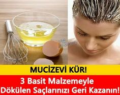 * 3 Simple Material * * Recover Your Hair * * Recover! Hair Health, Diet And Nutrition, Hair Loss, Your Hair, Beauty Hacks, Hair Care, Shampoo, Food And Drink, Health Fitness