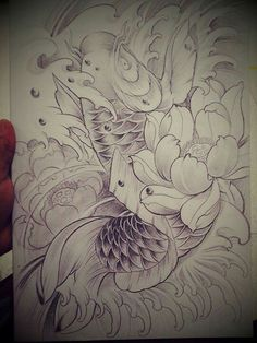 I truly like the color styles, outlines, and depth. This is definitely a fantastic tattoo design if you want a Japanese Tattoo Art, Japanese Tattoo Designs, Koy Fish Drawing, Tattoo Studio, Koi Kunst, Sak Yant Tattoo, Dibujos Tattoo, Koi Art, Koi Fish Tattoo