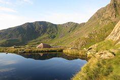 Wild camping at Hard Tarn, Lake District, near Helvellyn.