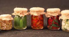 jars ~ pickles, peppers, tomatoes etc