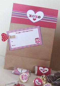 Valentine's Day Owl Printable Favors | bởi stockberrystudio