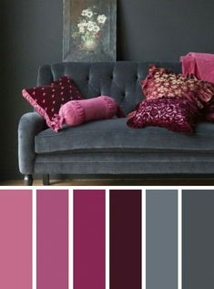 Best Living Room Color Scheme Ideas and Inspiration Living room color scheme ideas. The idea of a living room color scheme is needed to provide a new atmosphere for your family. The first step you have to do - Dark Grey Pink Living Room Color Scheme Ideas Living Room Colour Design, Good Living Room Colors, Living Room Color Schemes, Living Room Grey, Living Room Designs, Interior Design Color Schemes, Purple Living Rooms, Grey Living Room Ideas Colour Palettes, Apartment Color Schemes
