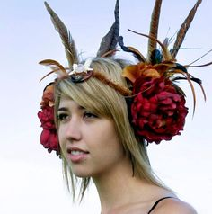 Custom Order Feather Headdress by RadhasLoveDesigns777 on Etsy, $165.00